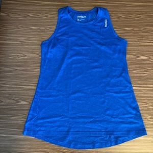Reebok high neck tank, EUC, M, Heathered Blue
